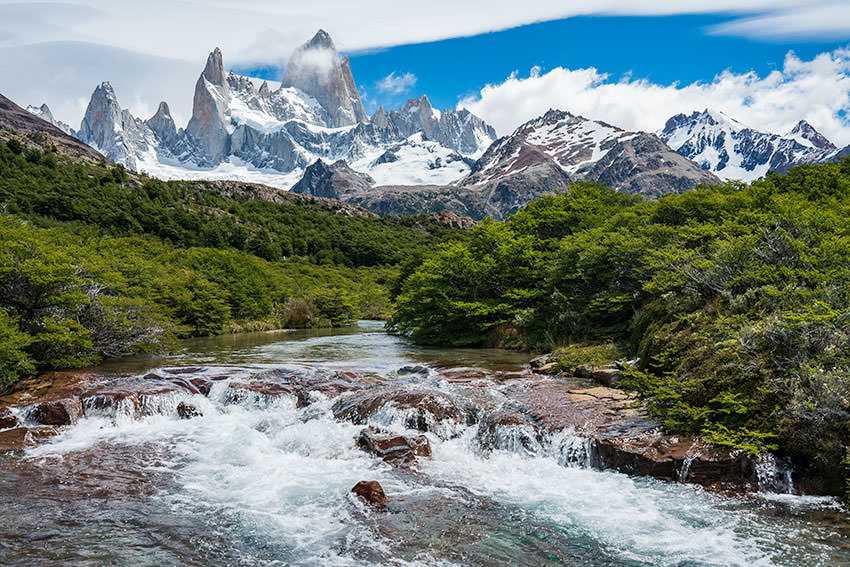 Hiking To Laguna De Los Tres In The Heart Of Patagonia