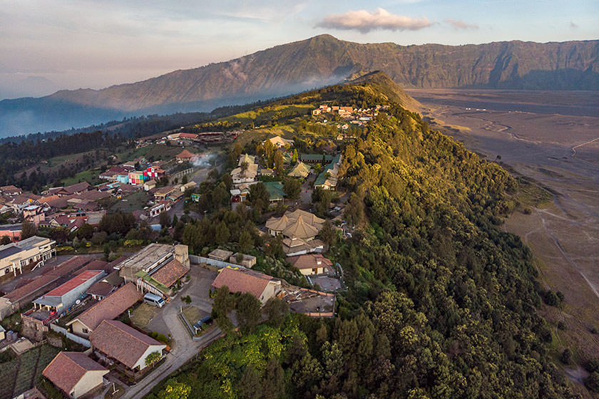 The Village Of Cemoro Lawang, Indonesia