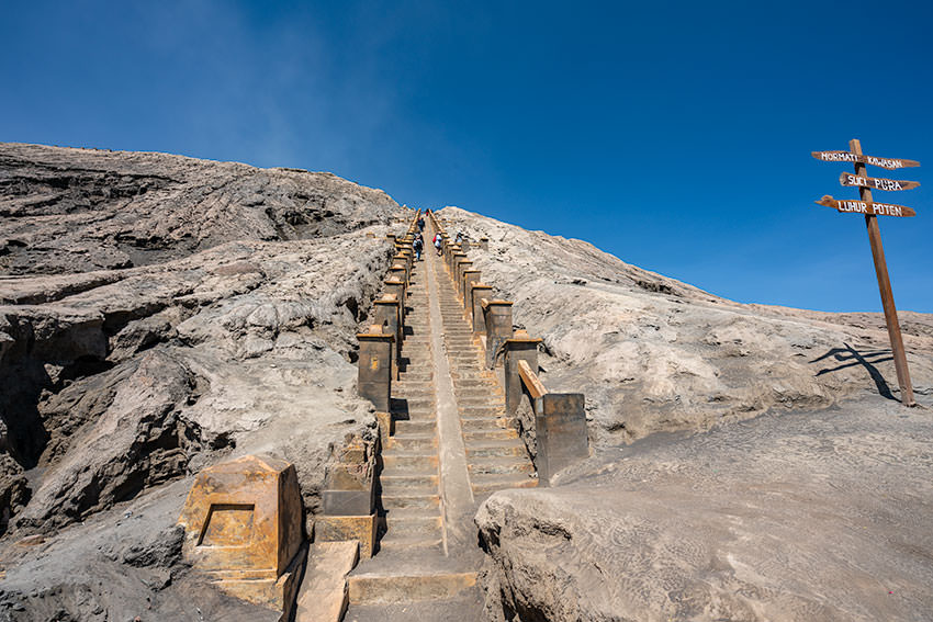 Stairway To The Top Of Mount Bromo