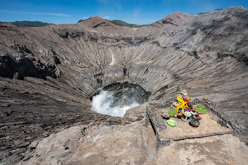 Looking Into The Crater Of Mount Bromo, Indonesia