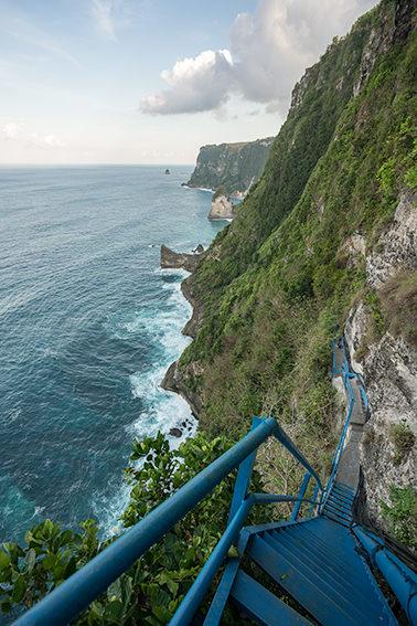 Peguyangan Falls Cliff Nusa Penida, Bali