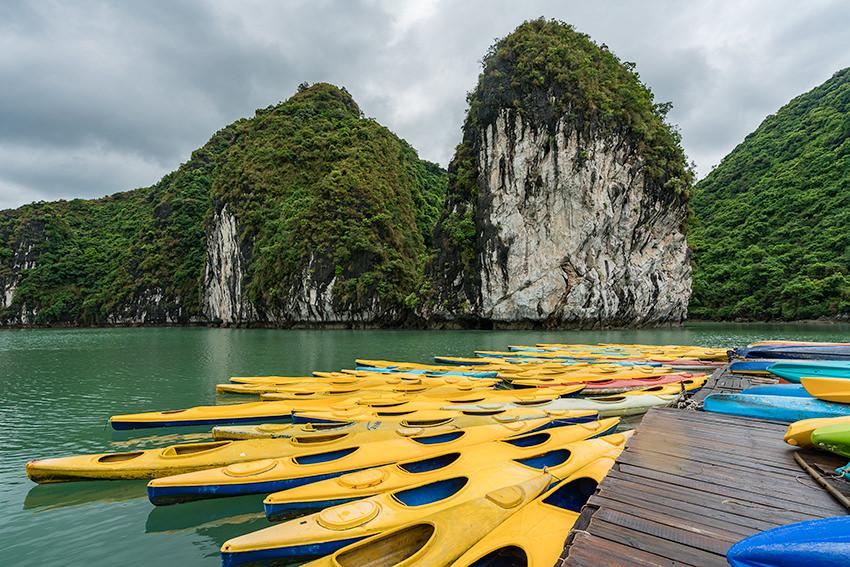 The Floating Kayak Shack Halong Bay, Vietnam