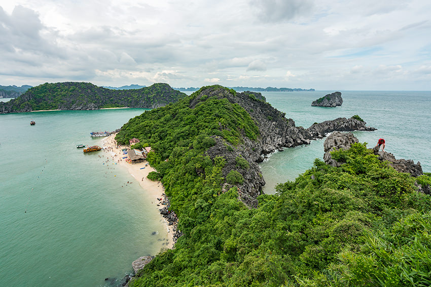 Monkey Island Viewpoint Halong Bay, Vietnam