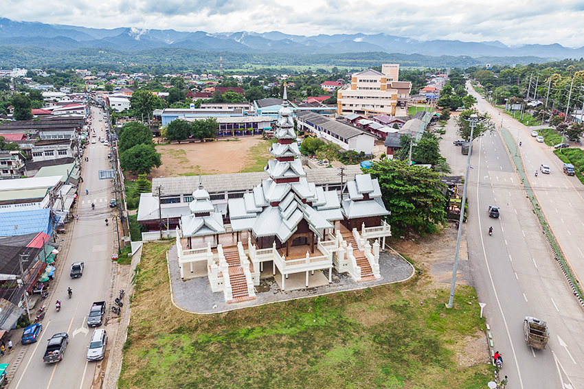 The Town Of Mae Sariang, Thailand